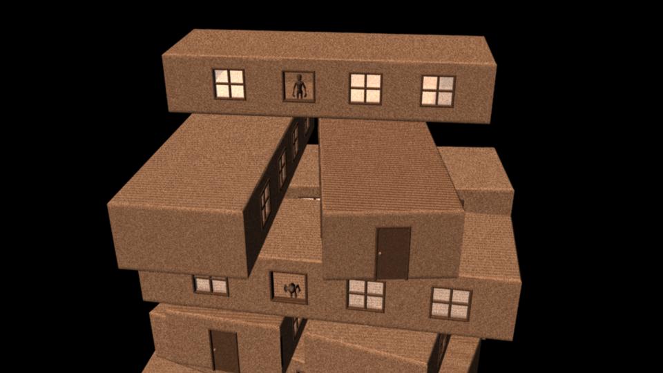 Jenga houses